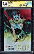 Mighty Thor #1 Cgc 9.8 Ss Stan Lee Coipel Variant Cover New Label #1227829011