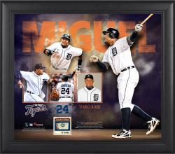 Miguel Cabrera Detroit Tigers Framed 15'' x 17'' Collage with Game-Used Ball - Limited Edition of 500 - Mounted Memories