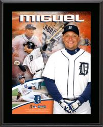 Miguel Cabrera Detroit Tigers Sublimated 10.5'' x 13'' Plaque - Mounted Memories