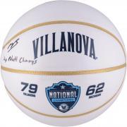 Mikal Bridges Villanova Wildcats Autographed White Panel Basketball with 2x Champs Inscription