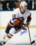 "Mike Bossy New York Islanders Autographed 8"" x 10"" Slanted Skating Photograph"