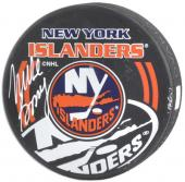 New York Islanders Mike Bossy Autographed Puck - Mounted Memories