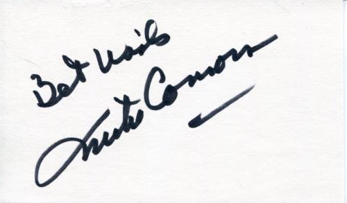 Mike Connors Actor In Mannix & Heres Lucy W/ Lucille Ball Signed Card Autograph