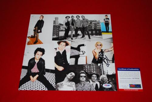 MIKE DIRNT green day bassist player dookie signed psa/dna 12X12 photo proof 4