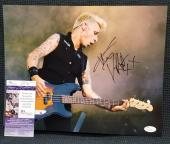 MIKE DIRNT Green Day Bassist Player Dookie Signed Autograph 11x14 Photo. JSA