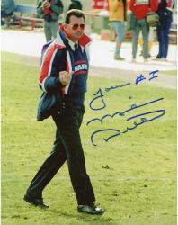 "Mike Ditka Chicago Bears Autographed 8'' x 10'' Finger Shot Blue Ink Photograph with ""You're #1"" Inscription"