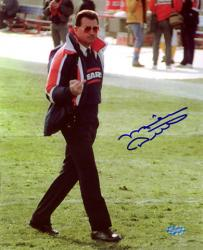 Mike Ditka Chicago Bears Autographed 8'' x 10'' Finger Smile Blue Ink Photograph