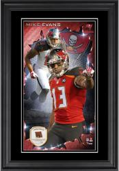 Mike Evans Tampa Bay Buccaneers 10'' x 18'' Vertical Framed Photograph with Piece of Game-Used Football - Limited Edition of 250