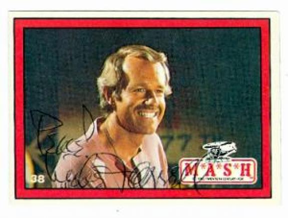 Mike Farrell autographed trading card Mash #38