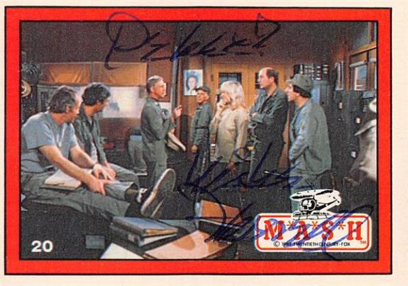 Mike Farrell autographed trading card Mash Captain BJ Hunnicutt #20