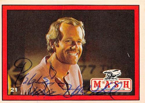 Mike Farrell autographed trading card Mash Captain BJ Hunnicutt #21
