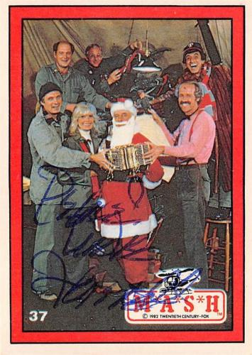 Mike Farrell autographed trading card Mash Captain BJ Hunnicutt #37 Christmas Celebration