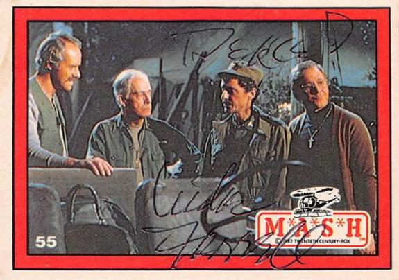 Mike Farrell autographed trading card Mash Captain BJ Hunnicutt #55