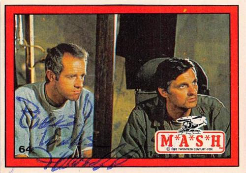 Mike Farrell autographed trading card Mash Captain BJ Hunnicutt #64