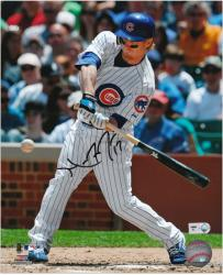 """Mike Fontenot Chicago Cubs Autographed 8"""" x 10"""" Swinging Photograph"""