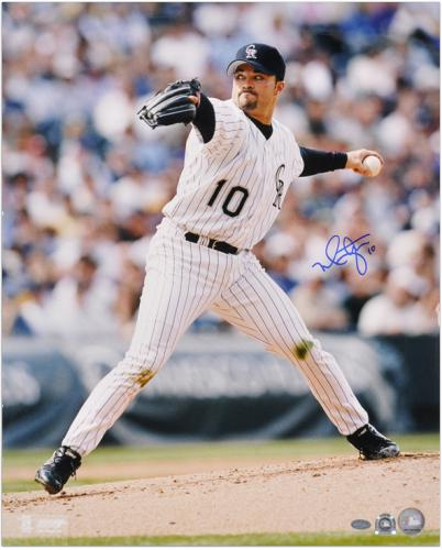 Mike Hampton Colorado Rockies Autographed 16'' x 20'' Pitching Photograph - Mounted Memories