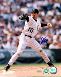 Mike Hampton Colorado Rockies Autographed 8'' x 10'' Pitching Photograph - Mounted Memories