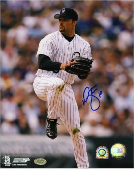 "Mike Hampton Colorado Rockies Autographed 8"" x 10"" Leg Lift Photograph"