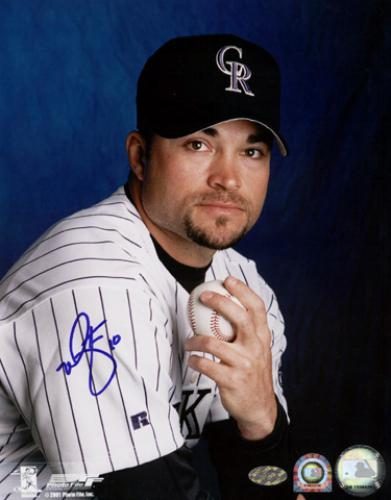 Mike Hampton Colorado Rockies Autographed 8'' x 10'' Pose Photograph - Mounted Memories