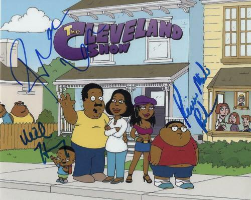 Mike Henry, Kevin, Reagan Cast Signed Autograph 8x10 Photo - The Cleveland Show