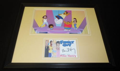 Autographed Mike Henry Photo - Framed 11x14 Display Family Guy Cleveland Brown