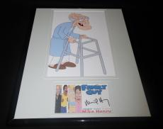 Autographed Mike Henry Photograph - Framed 11x14 Display Family Guy Mr Herbert B