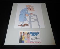 Mike Henry Signed Photo - Framed 11x14 Display Family Guy Mr Herbert