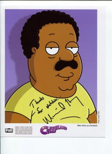Mike Henry Signed Photo - The Cleveland Show Family Guy