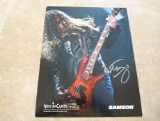 Mike Inez Alice In Chains Ozzy Signed Autographed 8x10 Photo PSA Guaranteed NAMM