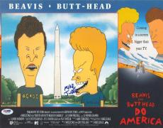 Mike Judge Signed Beavis & Butthead Authentic 11x14 Movie Poster PSA/DNA #I76478