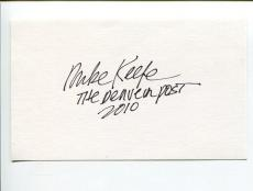Mike Keefe Editorial Pulitzer Prize Cartoonist Artist Signed Autograph