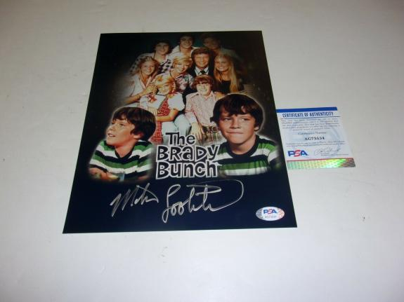 Mike Lookinland The Brady Bunch Peter Brady Actor #2 Psa/dna Signed 8x10 Photo