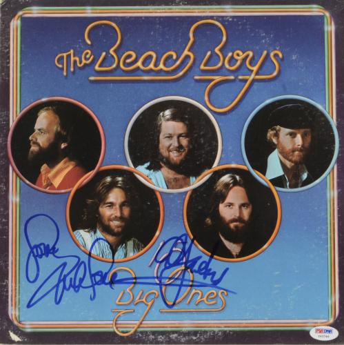 Mike Love & Al Jardine Autographed The Beach Boys 15 Big Ones Album Cover - PSA/DNA COA