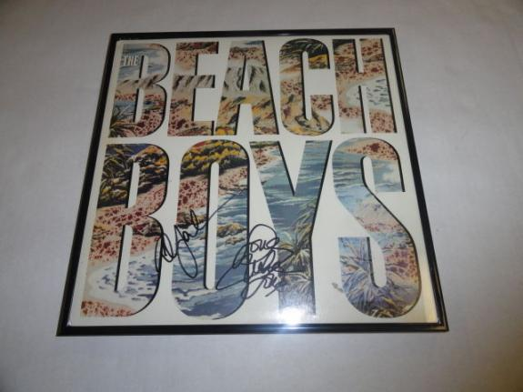 Mike Love & Al Jardine Signed Framed The Beach Boys Self Titled Lp Album 2x