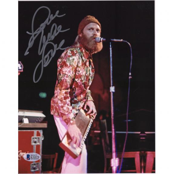 "Mike Love Beach Boys Autographed 8"" x 10"" Singing & Playing Instrument Photograph - BAS"