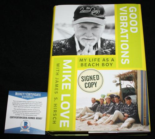 Mike Love signed book, Good Vibrations, Beach Boys, Beckett BAS B05857