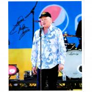 """Mike Love The Beach Boys Autographed 20"""" x 24"""" Standing at Mic Canvas with """"Love"""" Inscription - BAS"""