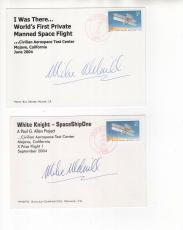 Mike Melvill Hand Signed Postcards+coa     Very Rare    Spaceship One   Lot Of 2