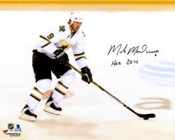 "Mike Modano Dallas Stars Autographed 16"" x 20"" White Horizontal Photograph With HOF 2014 Inscription"