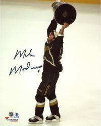 "Mike Modano Dallas Stars Autographed 8"" x 10"" Raising Cup Photograph"