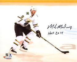 "Mike Modano Dallas Stars Autographed 8"" x 10"" White Horizontal Photograph With HOF 2014 Inscription"