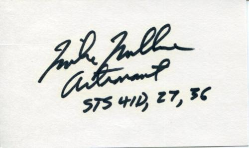 Mike Mullane STS NASA Astronaut Space Signed Autograph