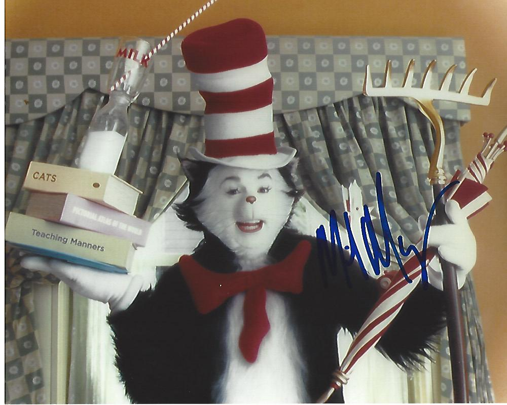 mike myers as the cat in 2003 movie the cat in the hat signed 10x8