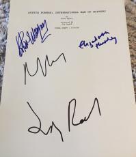 "Mike Myers Hurley Cast Signed Autograph ""austin Powers"" Movie Script Coa +4"