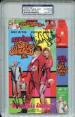 Autographed Mike Myers Picture - Mindy Sterling V TROYER AUSTIN POWERS VHS Cover PSA DNA