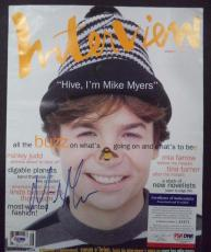 """Mike Myers Movie Legend Signed Autographed """"interview"""" Magazine Psa/dna Coa"""