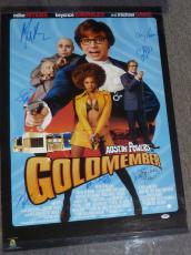Autographed Mike Myers Photograph - & Seth Green +5 Cast Austin Powers 22x35 Poster PSA DNA COA