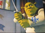 Signed Myers Picture - 8x10 SHREK SWORD NYC