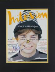Mike Myers Signed & Matted Interview Magazine Cover PSA/DNA #J00127