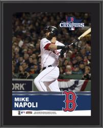 Mike Napoli Boston Red Sox 2013 MLB World Series Champions 10'' x 13'' Sublimated Player Plaque - Mounted Memories